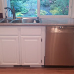 Kitchen cabinets look like new after painting