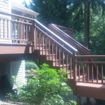 Stain for deck with railings and stairs